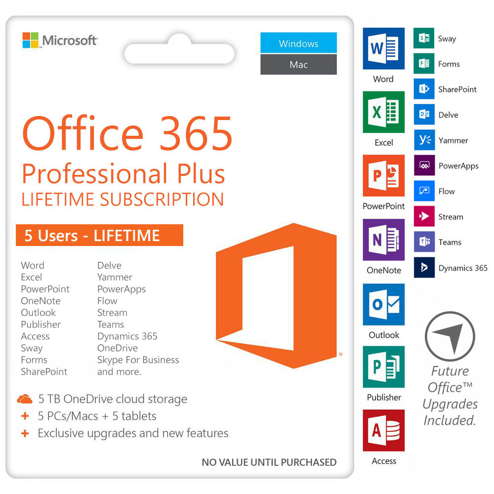Office 365 Pro Plus Account - 5 TB GB OneDrive / Office 365 Download / MultiDevices